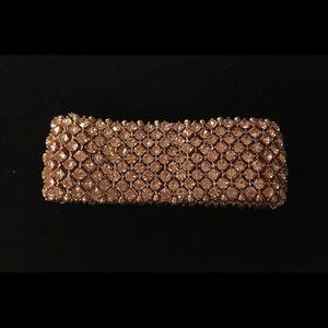 Beautiful Rose Gold Rhinestone Stretch Bracelet.